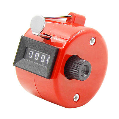 New 4 Digit Portable Convenient Hand Held Tally Counter Manual Palm Clicker