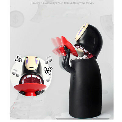 Spirited Away No-Face Man Saving Coin Bank Kaonashi Music Piggy Bank Figure Gift