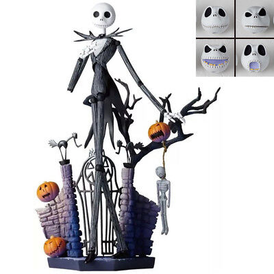 "7"" Jack Skellington The Nightmare Before Christmas Bobble Head Skull Figures Toy"