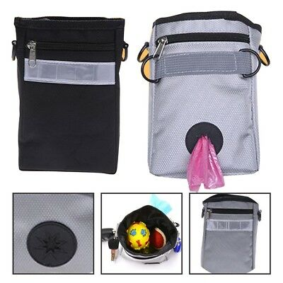 Lovely Pet Training Package Obediencet Feed Bait Snack Belt Pouch Bag Grey/Black