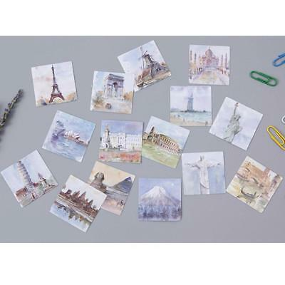 45 pcs travel around the world diy kawaii scrapbooking vintage paper stickers