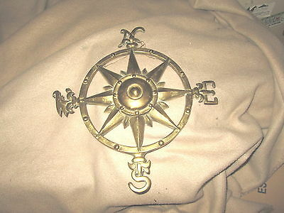 Nautical Vintage Brass North,West,East,South Wall Decor Decoration Excellent Con