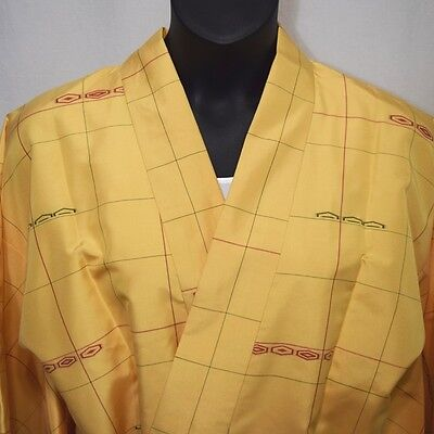 "Vintage Japanese Dochugi XL Kimono Jacket Casual Cover Up ""Crisp and Clean"""