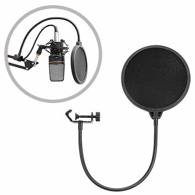 New Dual Layer Recording Studio Microphone Mic Windscreen Filter Mask Shield