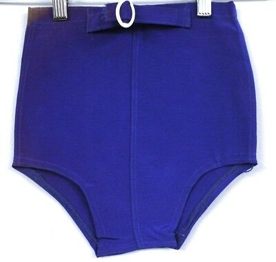 VTG 1930s Boys Bathing Suit Trunks Stretch Lastex NWT Yellow Blue NOS Deadstock