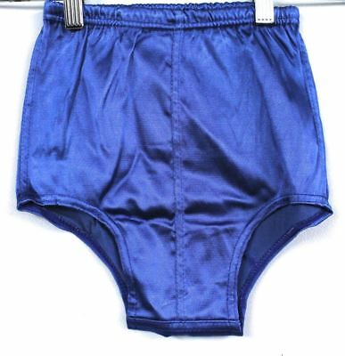 VTG 1930s Boys Bathing Suit Trunks Stretch Satin NWT Yellow or Blue NOS Deadstoc