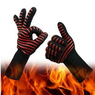 1 PC Safe BBQ Gloves Extreme Heat Resistant Protection Grill Cook Gloves JJ