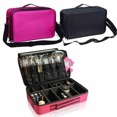 Cosmetic Makeup Bag Beauty Case Professional Large Storage Handle Organizer JJ