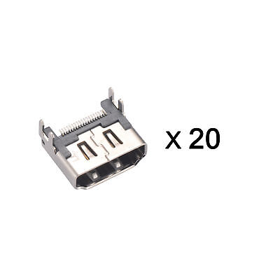 20 x DIY Replacement Kit SMD HDMI Port Connector Socket for TV PlayStation 4 PS4