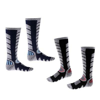 2 Pairs Men Warm Breathable Snowboard Ski Socks Outdoor Sport Long Socks