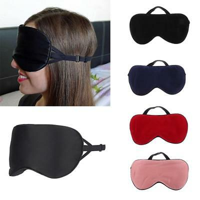 Eye Mask Shade Sleep Blindfold Cover Travel Relax Rest Aid Soft Padded Pure Silk