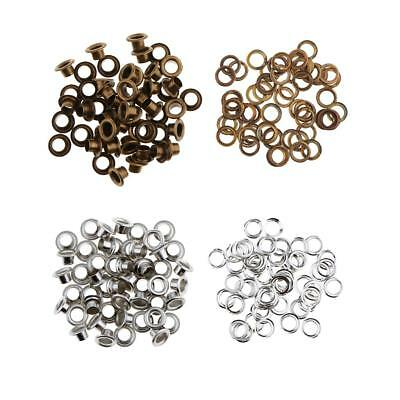 50pcs Metal Eyelets Buckle with Washers for Leathercraft 9mm 11mm 13mm 15mm 20mm