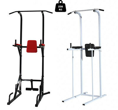 Fitness Power Tower Dip Pull Up Chin Up Bar Station Home Gym Exercise Workout