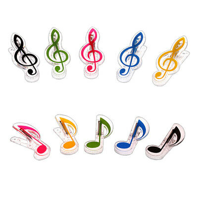 Novelty Musical Note Plastic Piano Music Book Page Holder Clips Stationery