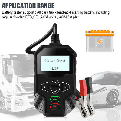 Car Truck Battery Load Tester 12V 24V Volt Power 100-2000CCA GEL AGM Scan Tool