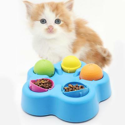 Funny Pet Dog Cat Roller Feeder Slowing-Eating Training Dishes Educational Toys