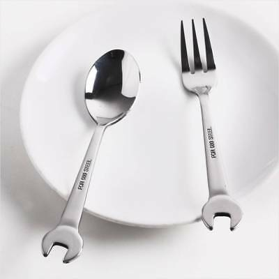 Portable Wrenchware Tableware Stainless Steel OpenEnd Wrench Spoon Fork Flatware