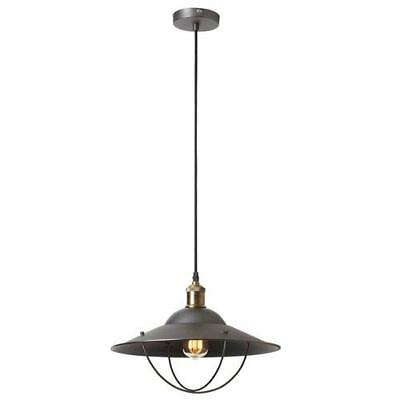 Dainolite Vintage Steel One-Light Single Pendant with Cage Cover - 406-16P-VS