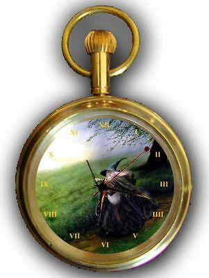 Original Gandalf Art Collectible Lord Of The Rings 17 Jewel Brass Pocket Watch