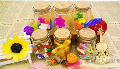 Mini Cork Stopper Glass Bottles Vial Jar Canister Container Tea Candy Storage