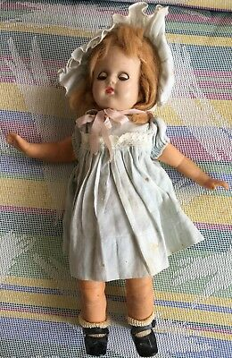 """Antique Unmarked 12"""" Composition Head, Vinyl & Cloth Body Doll"""