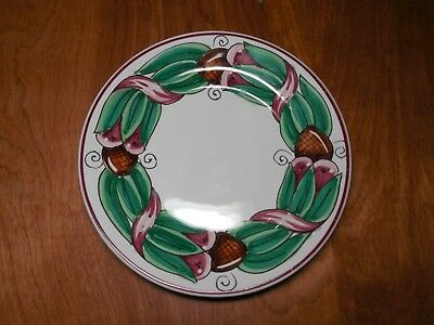 "Williams Sonoma Portugal Set of 4 Salad Plates 8"" Green Leaves Red Berries"