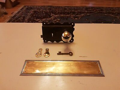 Victorian Edwardian Door Rim Lock Brass