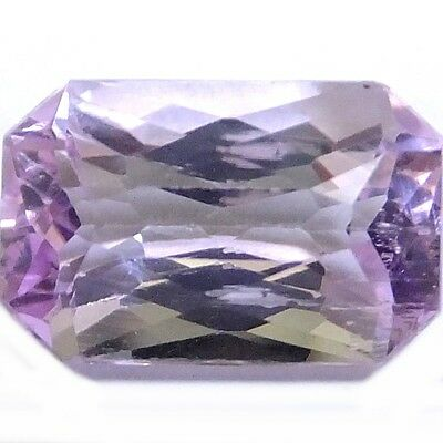 NATURAL EMERALD-CUT KUNZITE GEMSTONE 12.3 x 8 mm EXCELLENT PINK LOOSE GEMSTONE