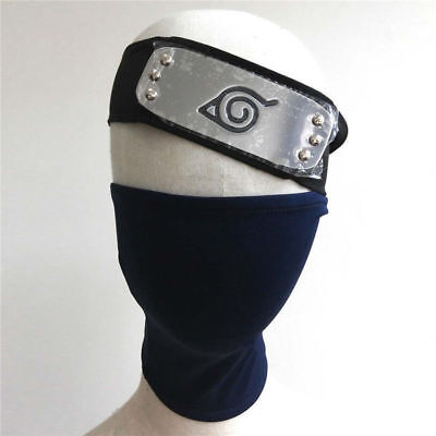 2pcs/set Face Mask&Headband COSPLAY for Anime NARUTO Hatake Kakashi with zipper