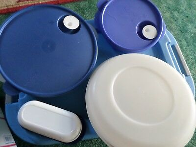 Tupperware Lot 4 Great Pieces with lids and inserts  Box #10 Wonderful Condition