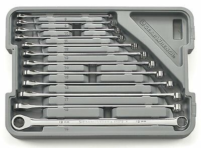 GearWrench 12 Piece Set Metric Tool Set Ratcheting Box Wrench Extra Long NEW
