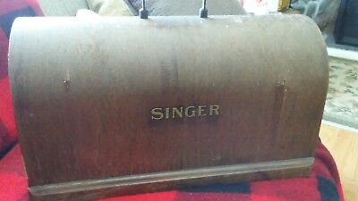 Singer~Antique Vintage Bentwood Sewing Machine Case ((Top Piece Only))