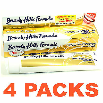 4 Packs Beverly Hills Formula Total Protection Whitening Toothpaste Tooth