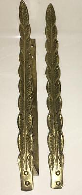 Curtain Tiebacks: Vintage Pair Brass Brass  Empire Style Leaf  Father Wall Hook