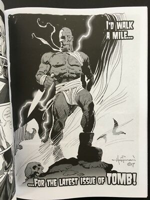 TOMB MAGAZINE PIN-UP ART #1! Signed Horror Mag & Drawing by Mike Hoffman!