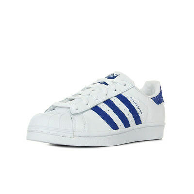 8fa2d8d81a8 Chaussures Baskets adidas femme Superstar taille Blanc Blanche Cuir Lacets