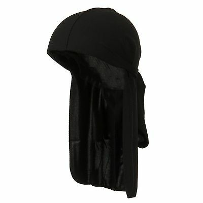 Men's Black Durag Bandanna Sports Du-Rag Scarf Head Rap Tie Down Band