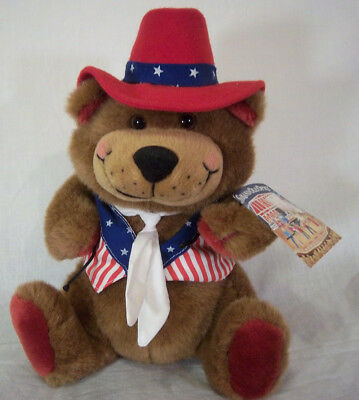 Hooch Grand Ole Opry Plush Bear Red White and Blue Stars and Stripes 1995