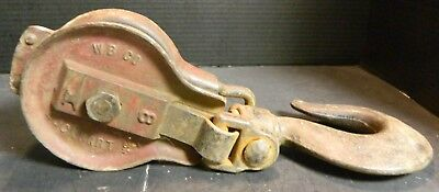 Vintage W B  Co. Lockport, NY Block & Tackle #8 Anvil Good-Very Good Condition