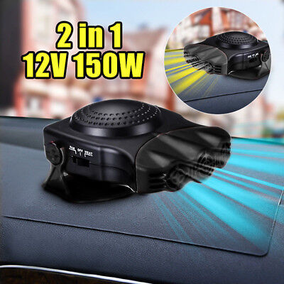 150W 12V Car Portable 2 in 1 Heating Cooling Heater Cool Fan Defroster Demister