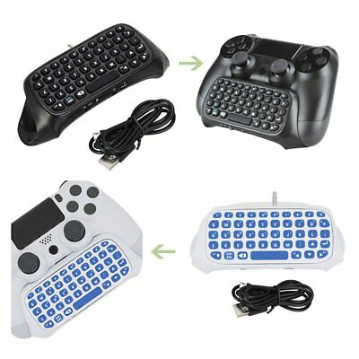 Bluetooth Wireless Keyboard Chatpad Keypad For PS4 PlayStation 4 Controller MS