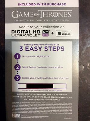 Game of thrones season 1 7 digital code
