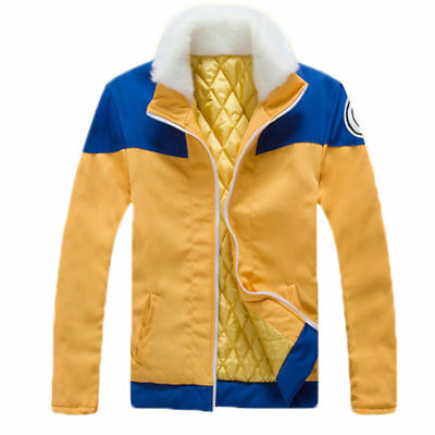 Anime Uzumaki Naruto Jacket Sweatshirt Cotton Warm Coat Cosplay Costume S-XXL