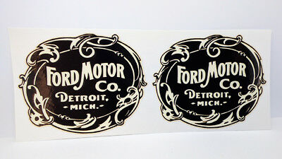 Pair of 3 Inch Ford Motor Co. Vintage Style DECALS, Vinyl STICKERS