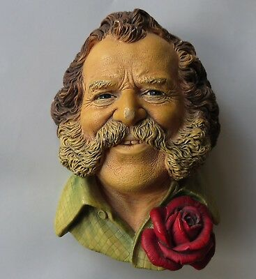 Bossons Chalkware Head -Harry Wheatcroft Most Rare Head Version With Blue Eyes