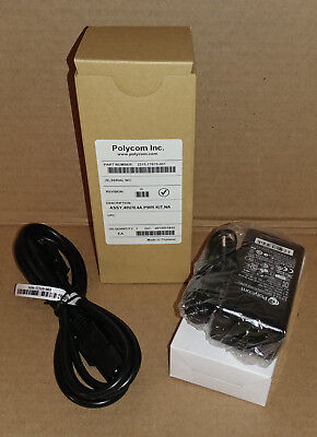 Polycom 48V/0.4A Power Kit PoE Adapter, 2215-17670-001 NEW