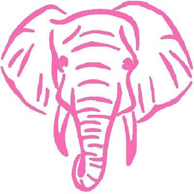 30 Custom Modern Pink Elephant Personalized Address Labels