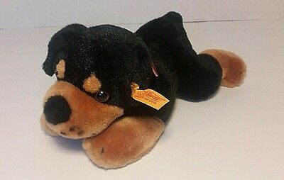 STEIFF AKC Rottweiler Puppy Stuffed Dog  with Collar American Kennel Club 9""