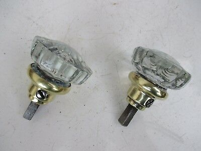 GENUINE ANTIQUE OR VINTAGE TWO DOOR KNOBS CRYSTAL OR GLASS KNOB HANDLE 50 mm