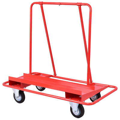 Drywall Cart Dolly Heavy Duty Handling Sheetrock Sheet Panel Service Cart Red
